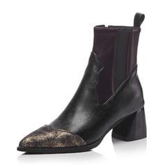 Dla kobiet Skóra ekologiczna Obcas Slupek Kozaki Z Łączona obuwie