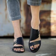 Femmes Similicuir Talon plat Sandales Chaussures plates À bout ouvert Escarpins avec Autres chaussures