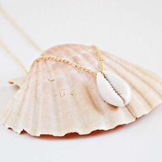 Stylish Alloy With Shell Necklaces Beach Jewelry