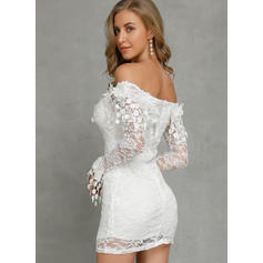 Lace Long Sleeves Bodycon Above Knee Casual/Party Dresses
