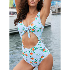 Monokini Tropical Print Strap Sexy One-piece Swimsuits
