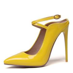 Femmes Similicuir Talon stiletto Escarpins avec Boucle chaussures