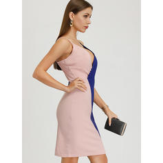 Color Block Sleeveless Sheath Above Knee Casual/Party Dresses