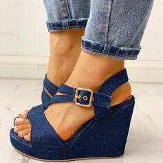 Pentru Femei Blug Platforme Înalte Sandale Platforme Puţin decupat în faţă cu Cataramă pantofi