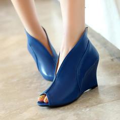 Femmes Similicuir Talon compensé Escarpins Compensée avec Autres chaussures