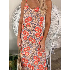 Print/Floral Sleeveless Shift Slip Casual/Vacation Maxi Dresses
