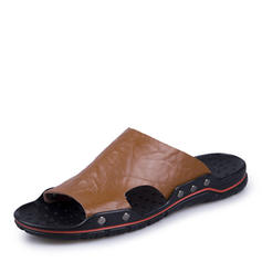 Men's Casual Real Leather Men's Slippers