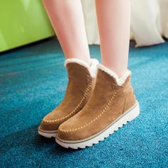 Donna Camoscio Senza tacco Stivali Stivali alla caviglia Stivali da neve con Altrui scarpe