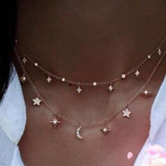 Hottest Stars Alloy With Star Moon Jewelry Sets Necklaces 2 PCS