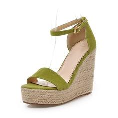 De mujer Ante Tipo de tacón Sandalias con Hebilla zapatos