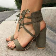 Dámské Látka Jehlový podpatek Sandály Lodičky S Šněrovací obuv