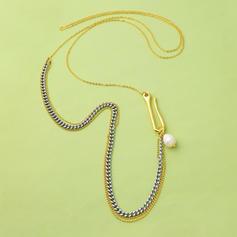 Unique Copper With Imitation Pearl Women's Necklaces
