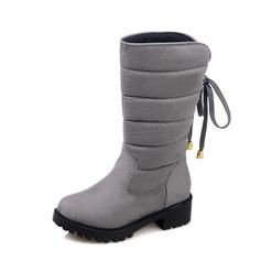 Femmes Suède Talon bottier Bottines avec Boucle Zip Tassel chaussures
