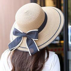 Dames Style Classique/Fait main avec Bowknot Chapeau de paille/Chapeaux de plage / soleil