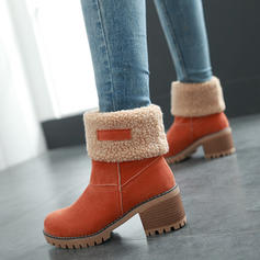 Women's Leatherette Chunky Heel Boots Ankle Boots Snow Boots shoes