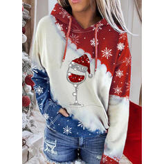 Sequins Pockets Long Sleeves Christmas Sweatshirt