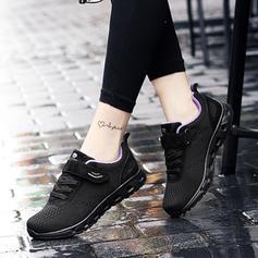 Mulheres Malha Casual Outdoor Caminhada com Aplicação de renda Velcro sapatos