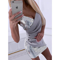 Sequins Sleeveless Bodycon Above Knee Party Dresses