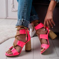 Жіночі ПУ Квадратні підбори Сандалі з Зашнурувати взуття
