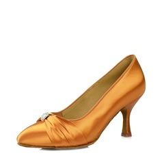 Women's Ballroom Heels Sandals Satin Silk Latin