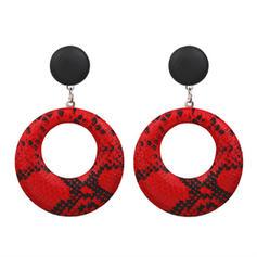 Simple Alloy Leatherette Women's Earrings