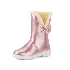 Femmes Similicuir Talon bas Bottines avec Bowknot chaussures
