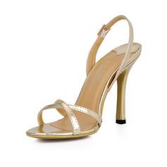De mujer Piel brillante Tacón stilettos Sandalias Solo correa zapatos