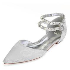 Επίπεδη φτέρνα Κλειστά παπούτσια Διαμερίσματα Με Δέσιμο δαντέλα Κρύσταλλο