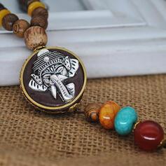 Exotique Bohème Alliage Résine Perles en bois Colliers