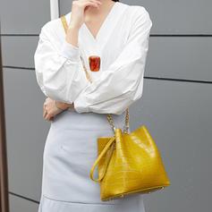 Bucket Shaped/Alligator Pattern/Commuting PU Crossbody Bags/Shoulder Bags/Bucket Bags