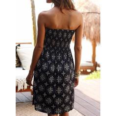 Print Sleeveless Sheath Knee Length Sexy/Casual/Boho/Vacation Dresses
