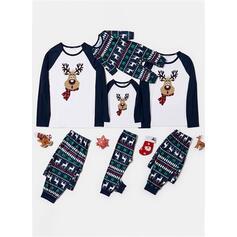 Hjort Print Familie matchende Jule Pyjamas