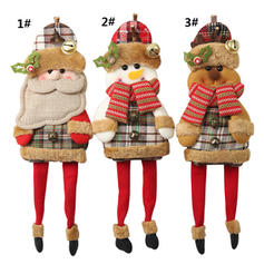 Snowman Reindeer Santa Christmas Long Leg Cloth Doll Christmas Décor
