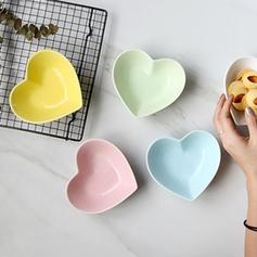 Forme de coeur Porcelaine Bols à Dessert