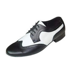 Men's Real Leather Flats Latin Ballroom Swing Dance Shoes