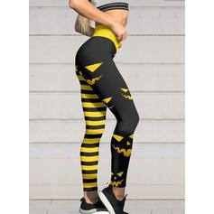 Striped Print Halloween Long Sexy Sporty Yoga Leggings