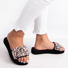 Жіночі ПУ Низька підошва Тапочки з Перла взуття
