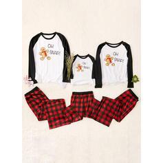 Tela Escocesa Impresión Familia a juego Pijama