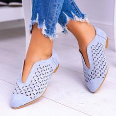 Donna PU Senza tacco Ballerine con Cava-out scarpe