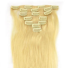 4A Straight Human Hair Clip in Hair Extensions 7pcs 100g