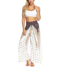 Sleeveless Print Floral Sports Pants