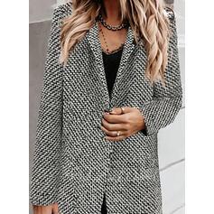 Długie rękawy Nadruk Slim Fit Płaszcze