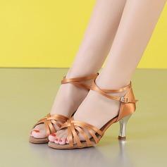 Women's Latin Heels Sandals Fabric Latin