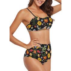 Bloemen Riem Sexy Bikini's Badpakken