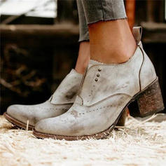 Women's PU Chunky Heel Ankle Boots With Others shoes