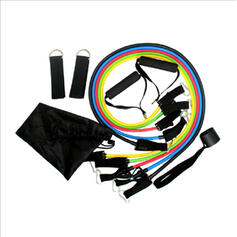 Multi-functional Stretchable 11 in 1 TPE Resistance Band (Set of 11)
