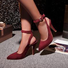 Women's Leatherette Stiletto Heel Pumps Slingbacks With Buckle shoes