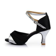 Donna Latino Tacchi Sandalo Raso Similpelle con Listino alla caviglia Latino