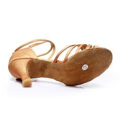 De mujer Danza latina Tacones Sandalias Satén con Tira de tobillo Danza latina