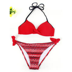 Underwire Low Waist Halter Fashionable Plus Size Bikinis Swimsuits